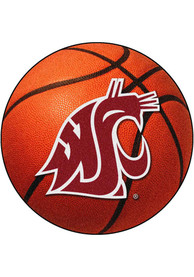 WSU Cougars 27` Basketball Interior Rug