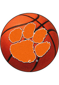 Clemson 27` Basketball Interior Rug