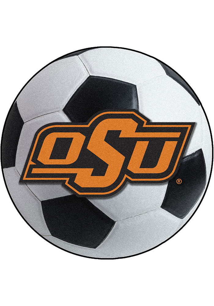 Oklahoma State Cowboys 27 Inch Soccer Interior Rug - Image 1