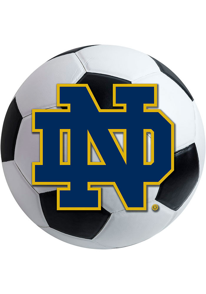 Notre Dame Fighting Irish 27 Inch Soccer Interior Rug - Image 1