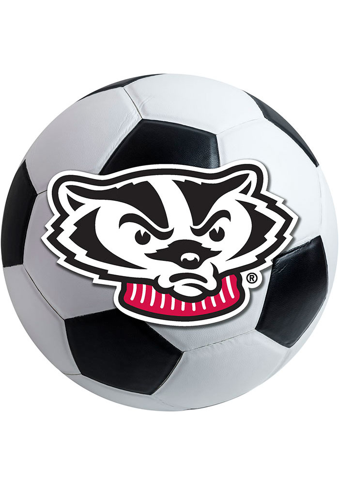 Wisconsin Badgers 27 Inch Soccer Interior Rug - Image 1
