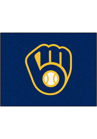 Milwaukee Brewers 34x45 All Star Interior Rug