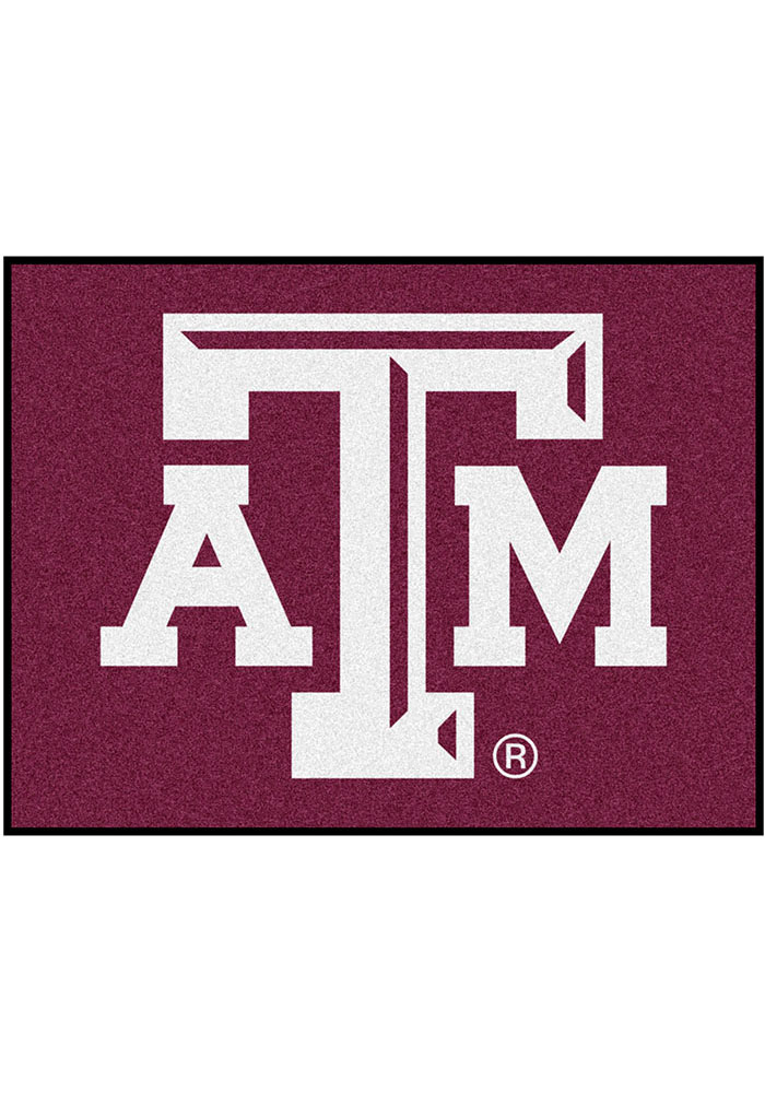 Texas A&M Aggies 34x45 All Star Interior Rug - Image 1