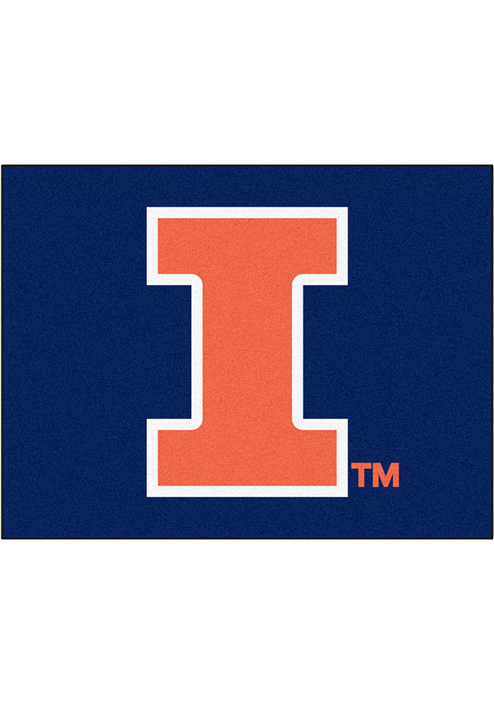 Illinois Fighting Illini 34x45 All Star Interior Rug - Image 1