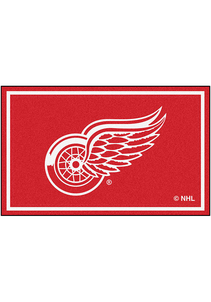 Detroit Red Wings 4x6 Interior Rug - Image 1