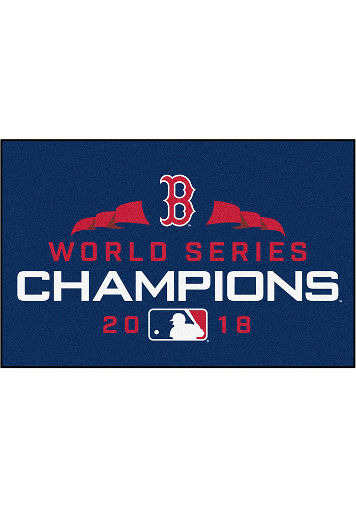 Boston Red Sox 2018 World Series Champions 19x30 Interior Rug - Image 1