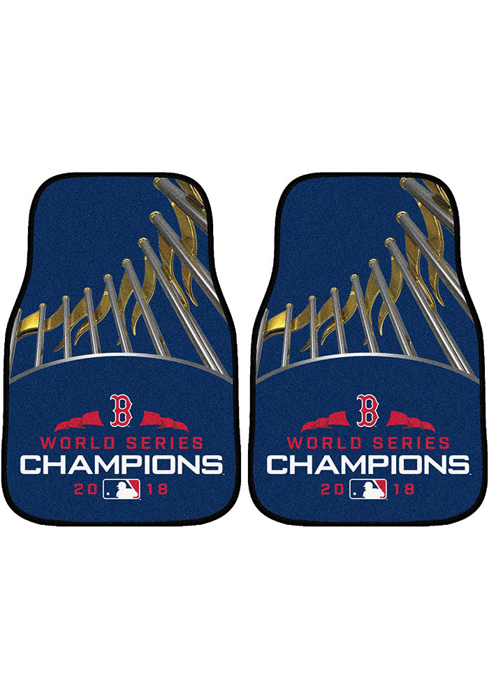 Sports Licensing Solutions Boston Red Sox 2018 World Series Champions Car Mat - Navy Blue - Image 1