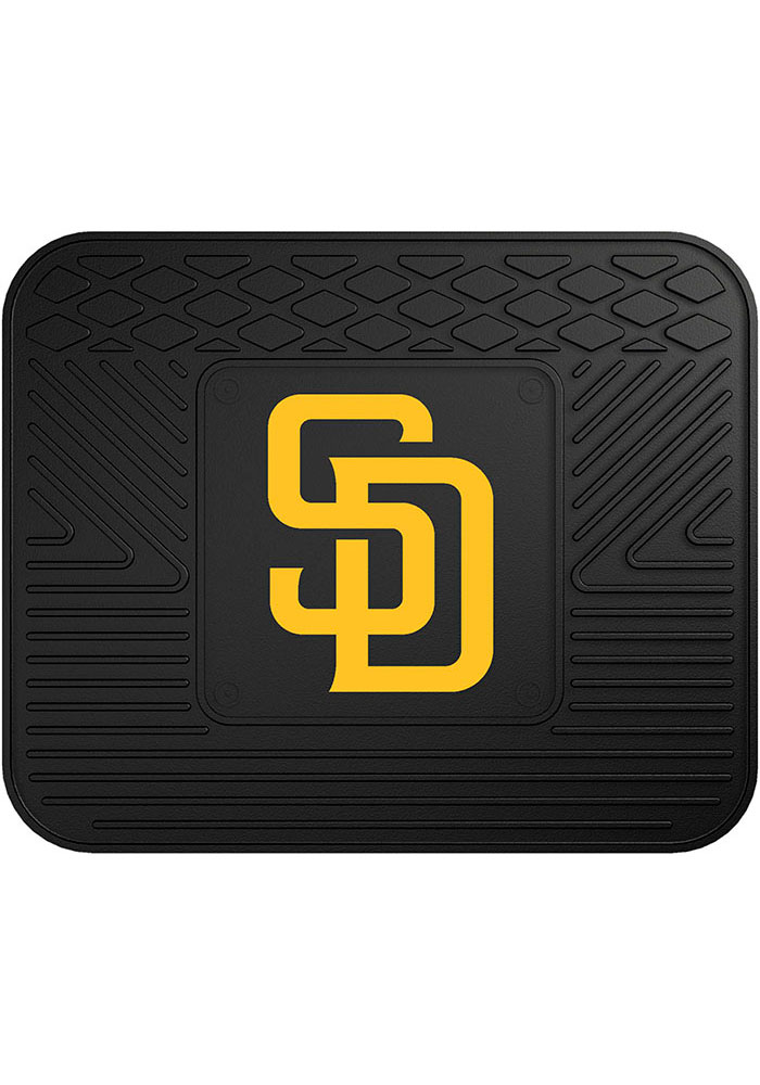Sports Licensing Solutions San Diego Padres 14x17 Utility Car Mat - Black - Image 1