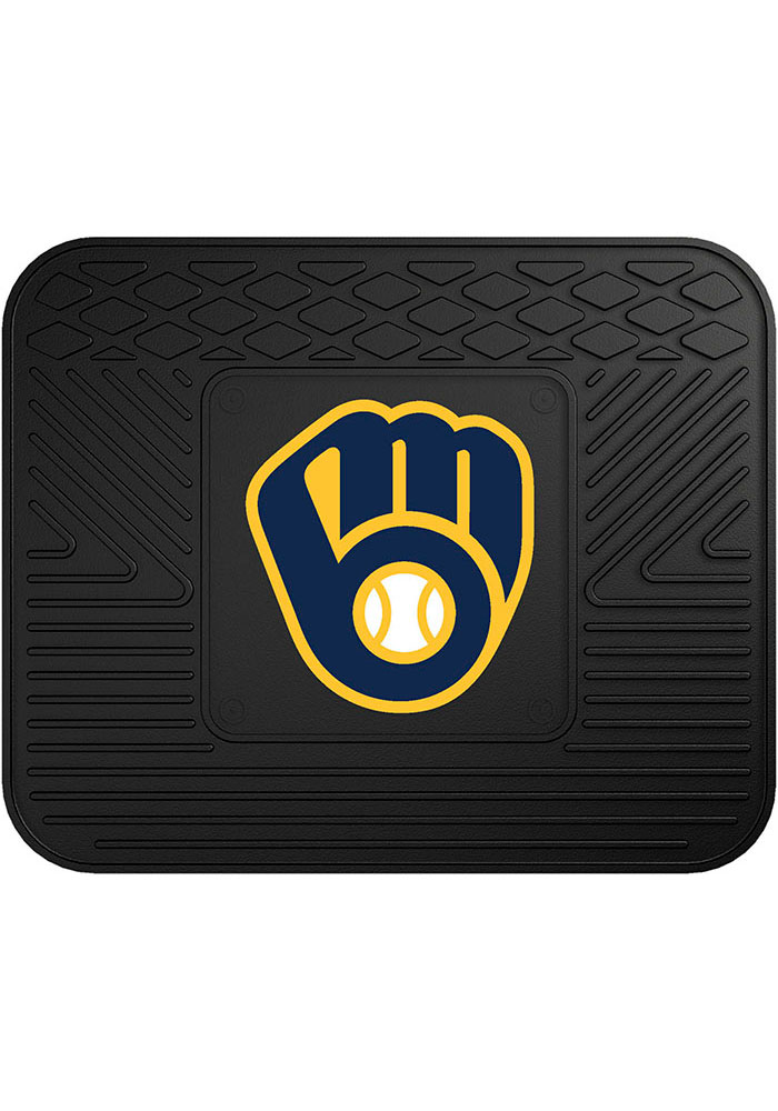 Sports Licensing Solutions Milwaukee Brewers 14x17 Utility Car Mat - Black - Image 1