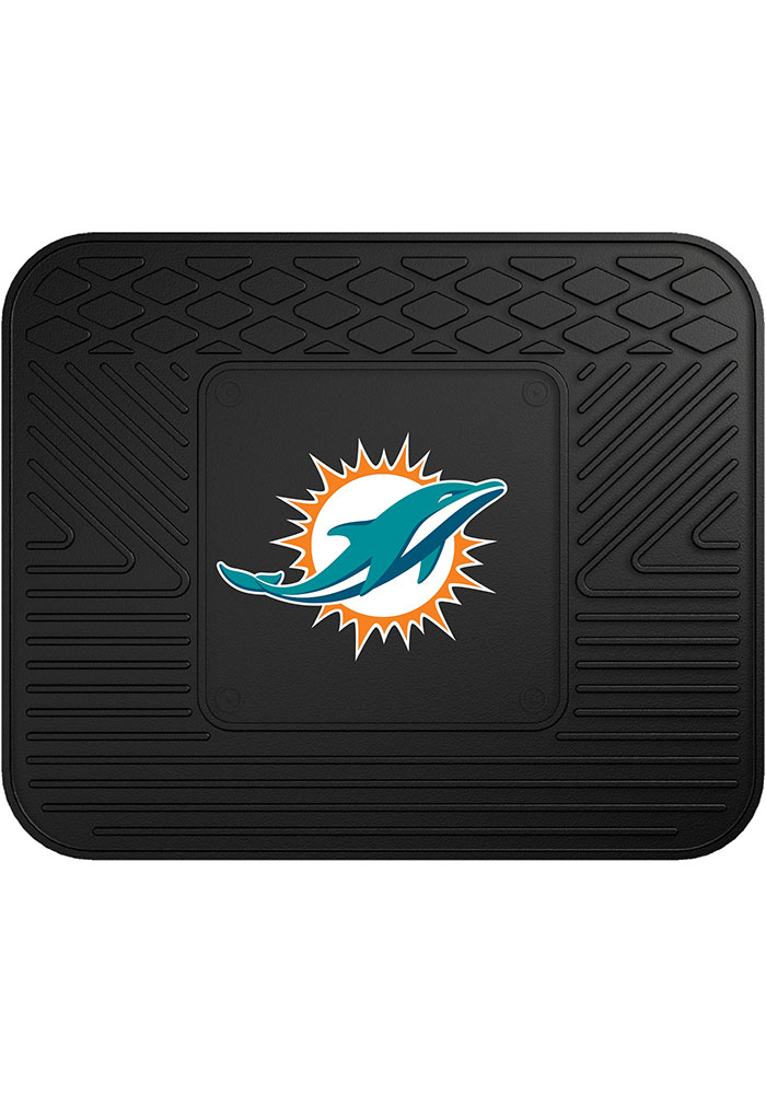 Sports Licensing Solutions Miami Dolphins 14x17 Utility Car Mat - Black - Image 1