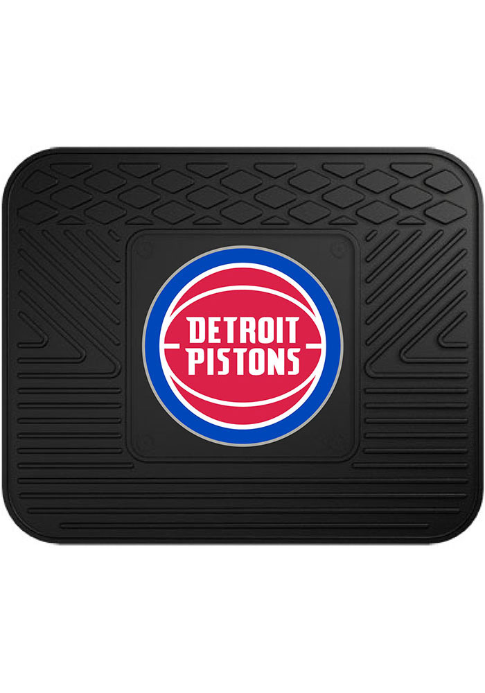 Sports Licensing Solutions Detroit Pistons 14x17 Utility Car Mat - Black - Image 1
