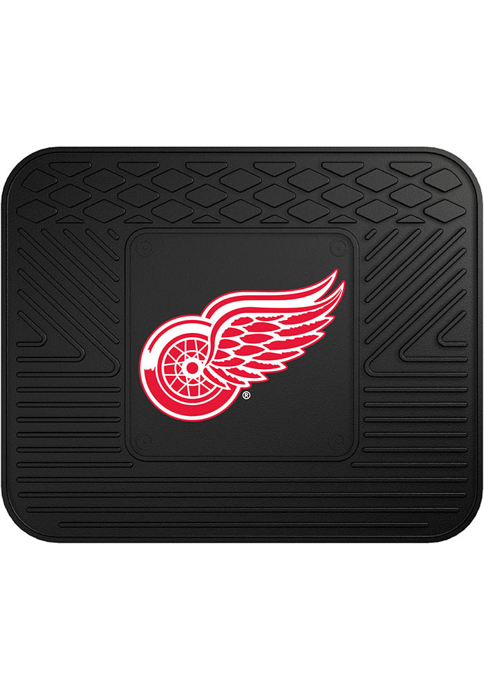 Sports Licensing Solutions Detroit Red Wings 14x17 Utility Car Mat - Black - Image 1
