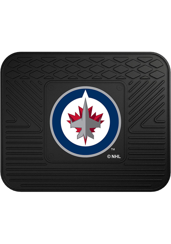 Sports Licensing Solutions Winnipeg Jets 14x17 Utility Car Mat - Black - Image 1