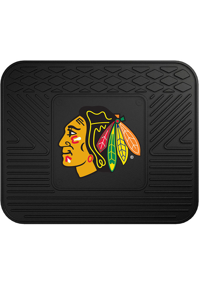 Sports Licensing Solutions Chicago Blackhawks 14x17 Utility Car Mat - Black - Image 1