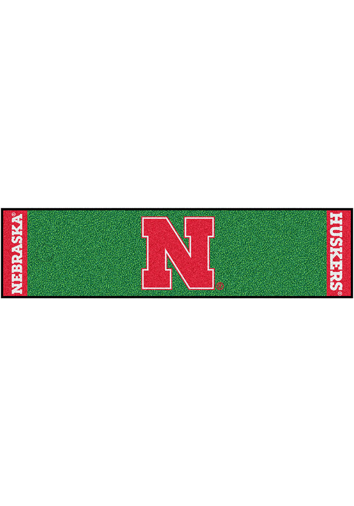 Nebraska Cornhuskers 18x72 Putting Green Runner Interior Rug - Image 1