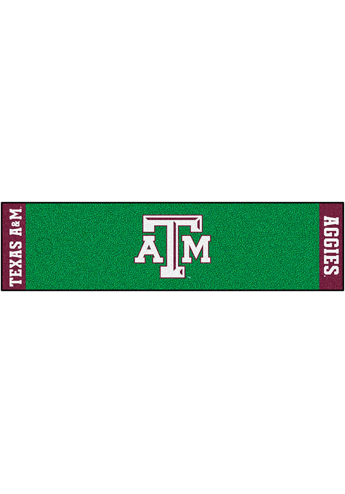Texas A&M Aggies 18x72 Putting Green Runner Interior Rug - Image 1