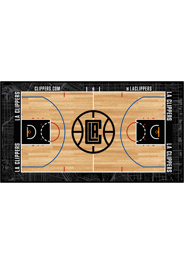 Los Angeles Clippers 29.5x54 Large Court Interior Rug - Image 1