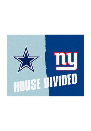 Dallas Cowboys and NY Giants 34x45 House Divided Interior Rug
