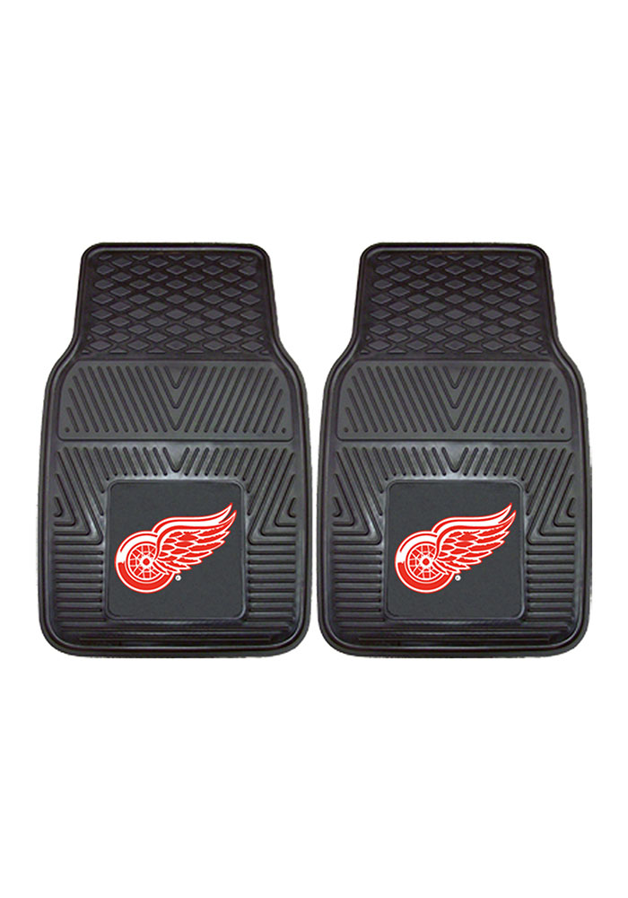 Detroit Red Wings 2 Piece Vinyl Car Mat - Image 2