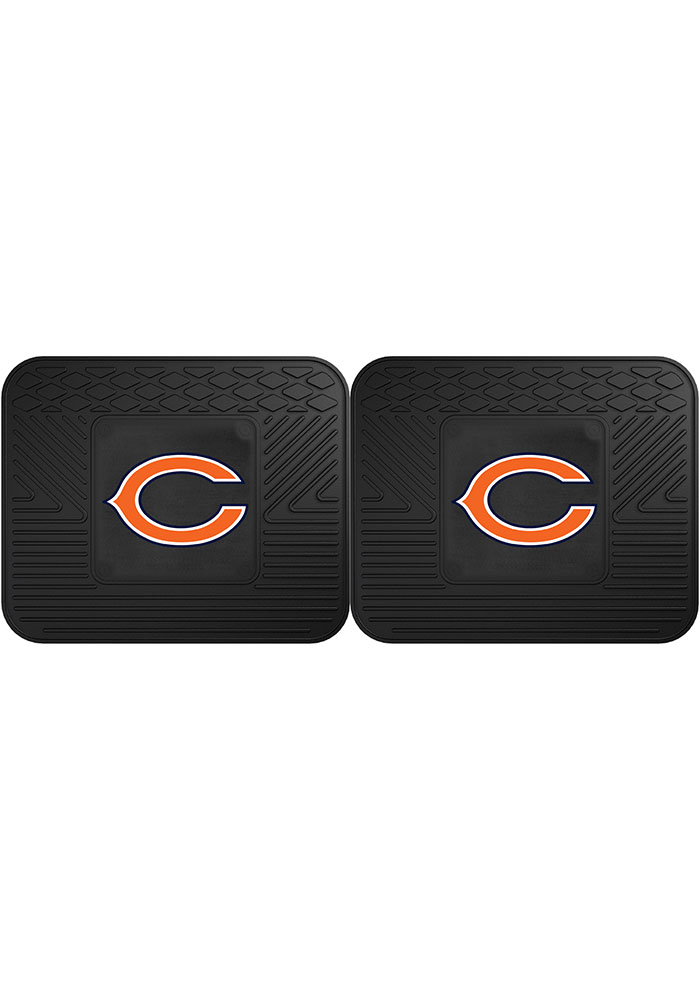 Sports Licensing Solutions Chicago Bears Backseat Utility mats Car Mat - Black - Image 1