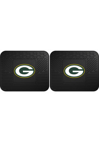 Sports Licensing Solutions Green Bay Packers Backseat Utility mats Car Mat - Black