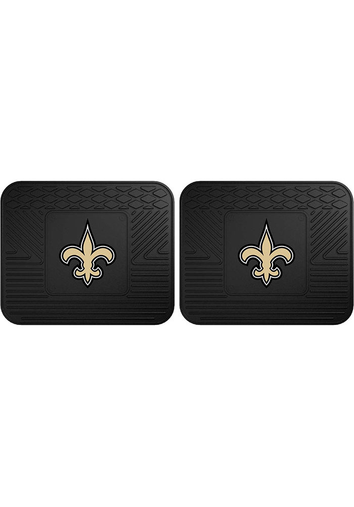 Sports Licensing Solutions New Orleans Saints Backseat Utility mats Car Mat - Black - Image 1