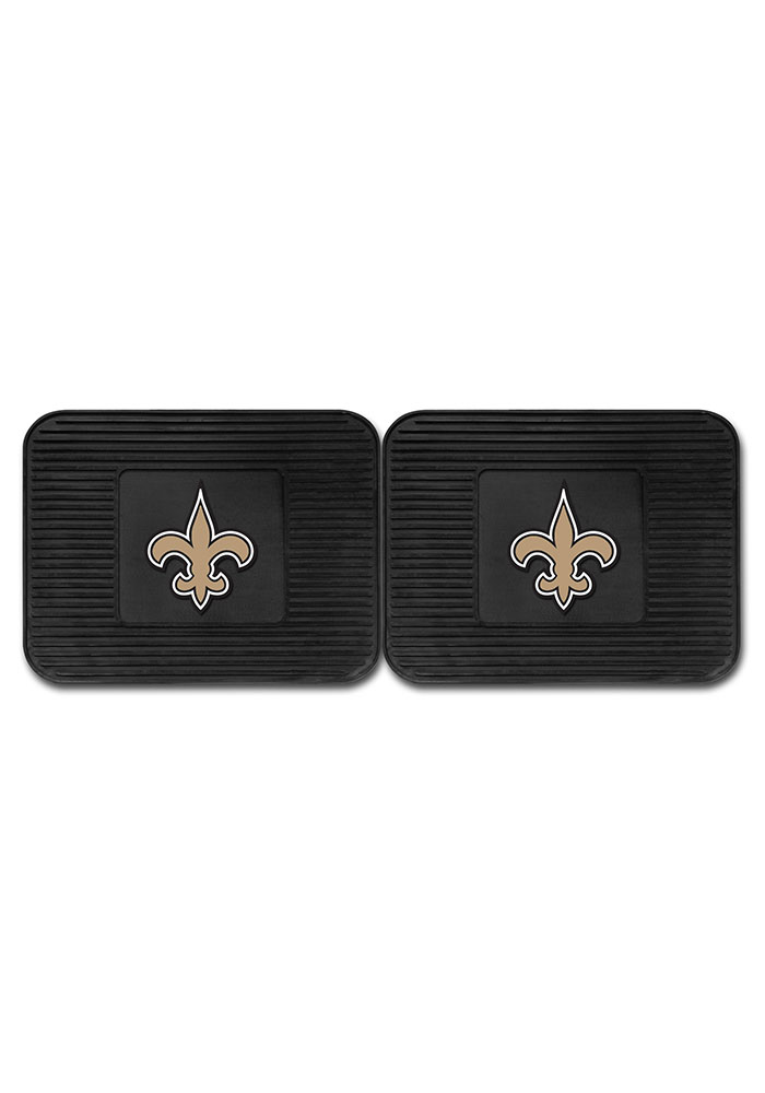 Sports Licensing Solutions New Orleans Saints Backseat Utility mats Car Mat - Black - Image 2