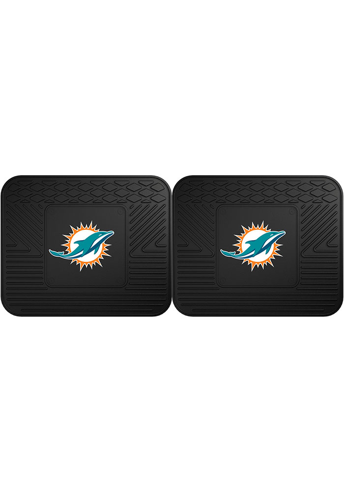 Sports Licensing Solutions Miami Dolphins Backseat Utility mats Car Mat - Black - Image 1