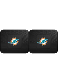 Sports Licensing Solutions Miami Dolphins Backseat Utility mats Car Mat - Black