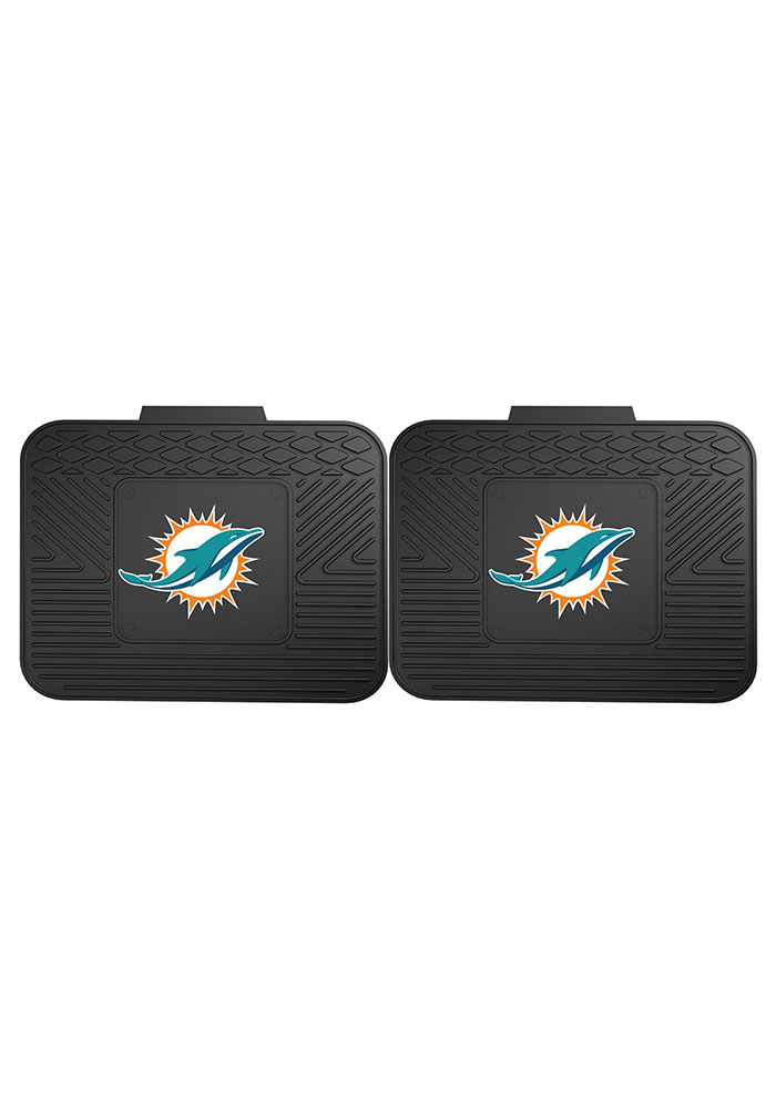 Sports Licensing Solutions Miami Dolphins Backseat Utility mats Car Mat - Black - Image 2