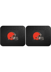 Sports Licensing Solutions Cleveland Browns Backseat Utility mats Car Mat - Black