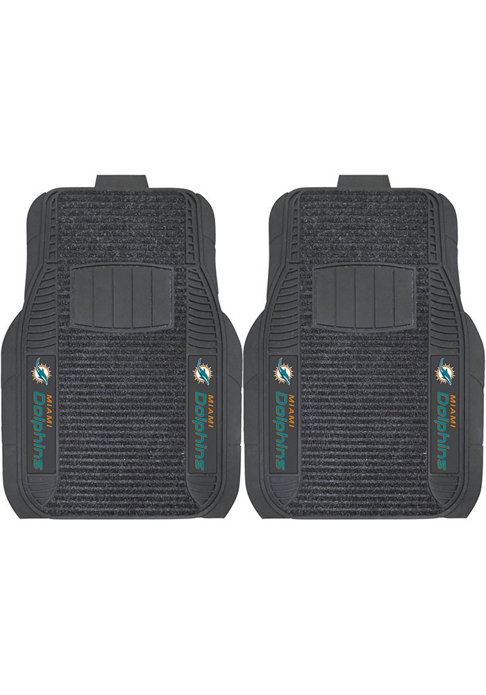 Sports Licensing Solutions Miami Dolphins 21x27 Deluxe Car Mat - Black - Image 1
