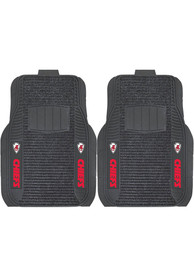 Sports Licensing Solutions Kansas City Chiefs 21x27 Deluxe Car Mat - Black