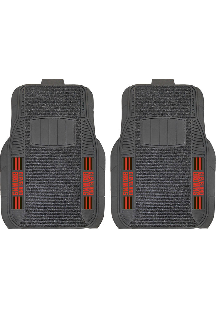 Sports Licensing Solutions Cleveland Browns 21x27 Deluxe Car Mat - Black - Image 1