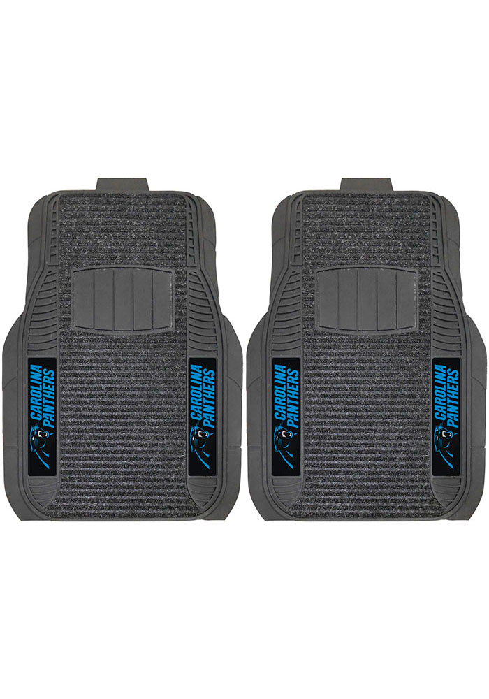 Sports Licensing Solutions Carolina Panthers 21x27 Deluxe Car Mat - Black - Image 1