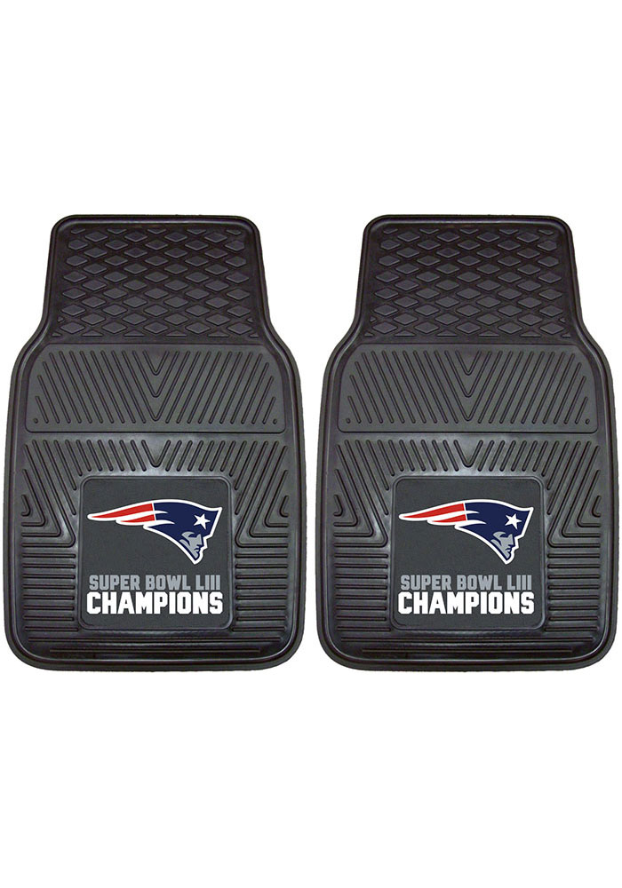 Sports Licensing Solutions New England Patriots Super Bowl LIII Champions Car Mat - Navy Blue - Image 2