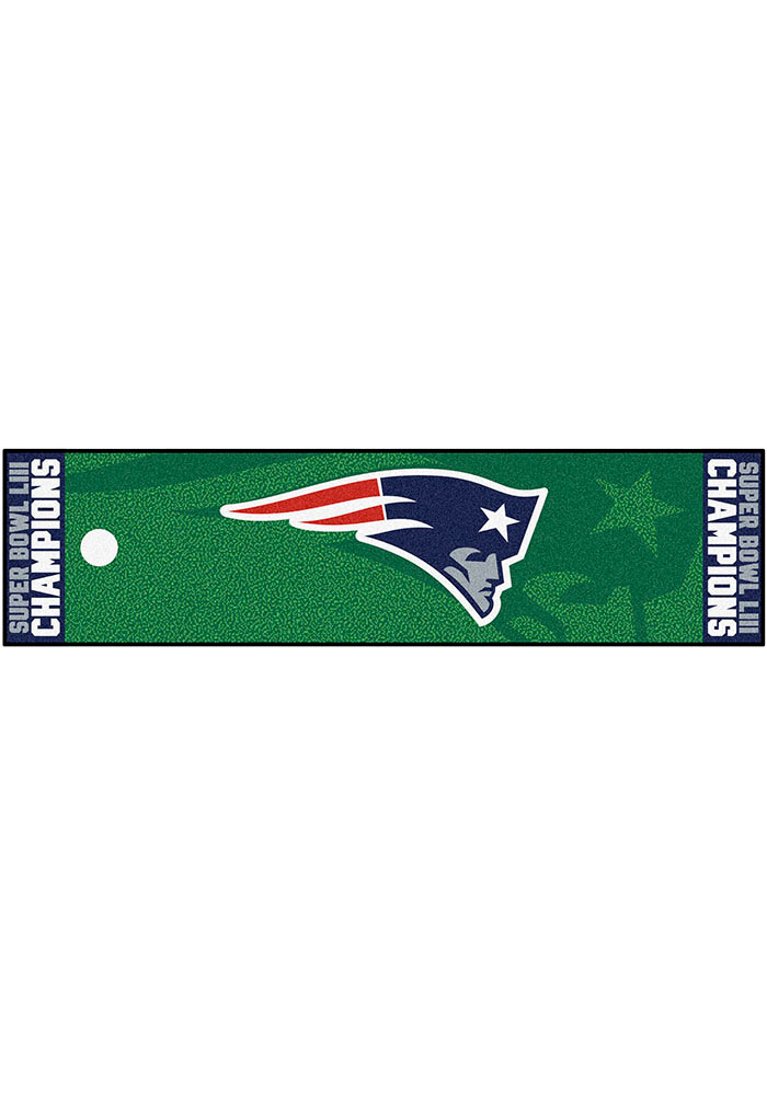 New England Patriots Super Bowl LIII Putting Green Interior Rug - Image 1