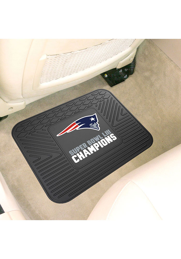 Sports Licensing Solutions New England Patriots Super Bowl LIII 14x17 Utility Car Mat - Navy Blue - Image 1