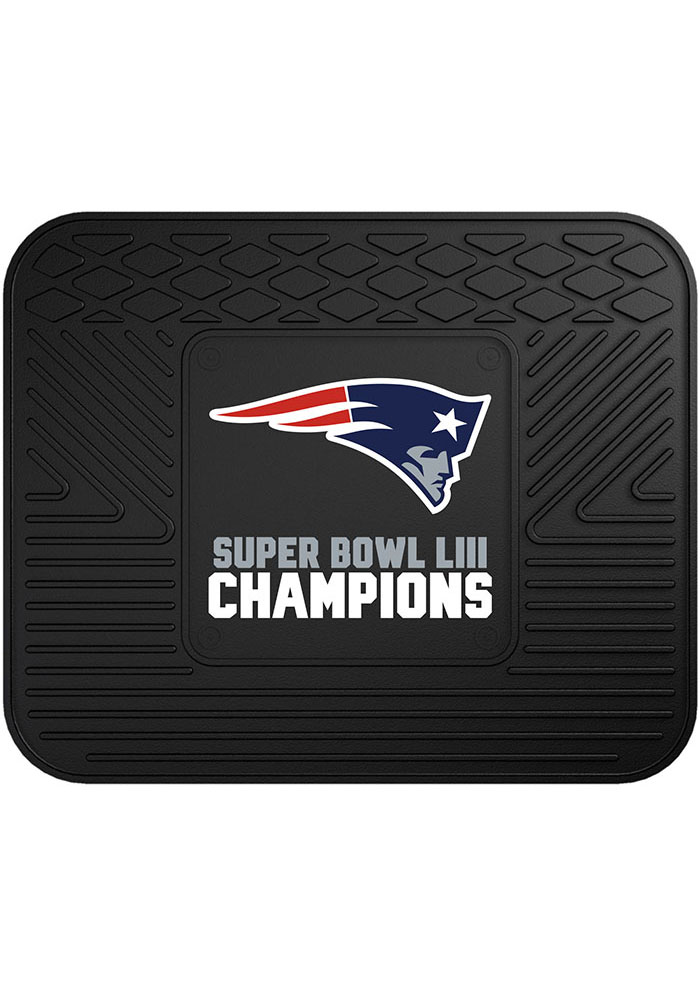 Sports Licensing Solutions New England Patriots Super Bowl LIII 14x17 Utility Car Mat - Navy Blue - Image 2