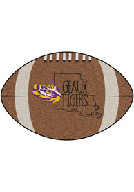 LSU Tigers Southern Style 20x32 Football Interior Rug
