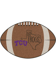 TCU Horned Frogs Southern Style 20x32 Football Interior Rug