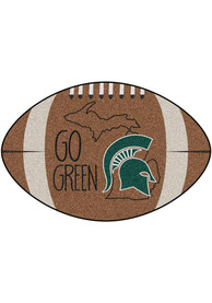 Michigan State Spartans Southern Style 20x32 Football Interior Rug