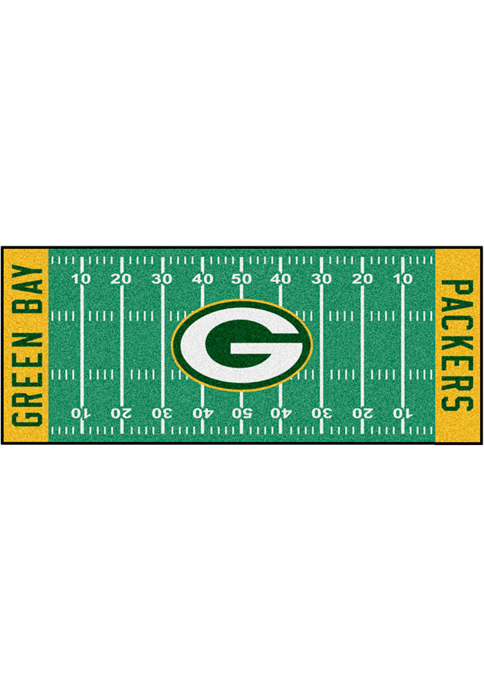 Green Bay Packers 30x72 Runner Rug Interior Rug - Image 1