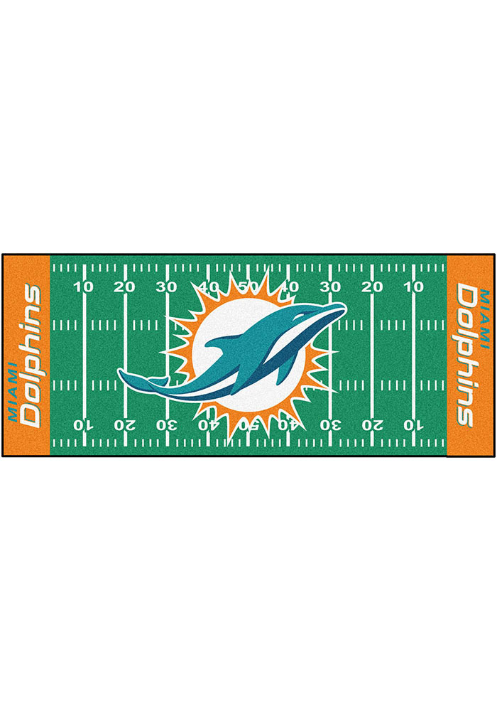 Miami Dolphins 30x72 Runner Rug Interior Rug - Image 1
