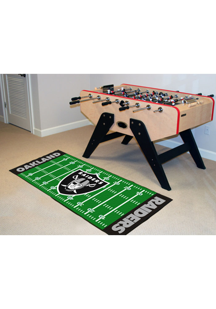 Oakland Raiders 30x72 Runner Rug Interior Rug - Image 1