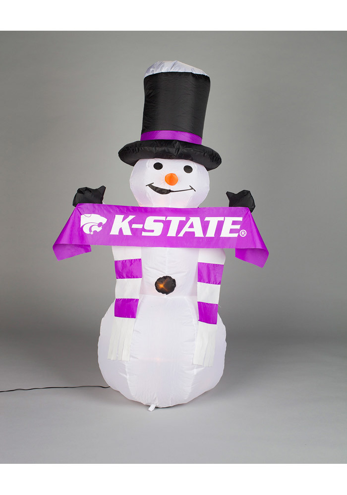 K-State Wildcats 48in Inflatable Snowman Decor - Image 1