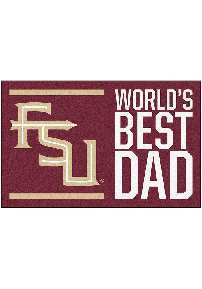 Florida State Seminoles Worlds Best Dad 19x30 Starter Interior Rug - Image 1