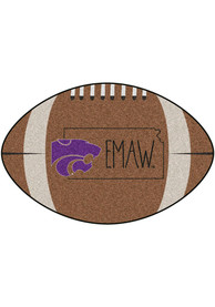 K-State Wildcats Southern Style 20x32 Football Interior Rug