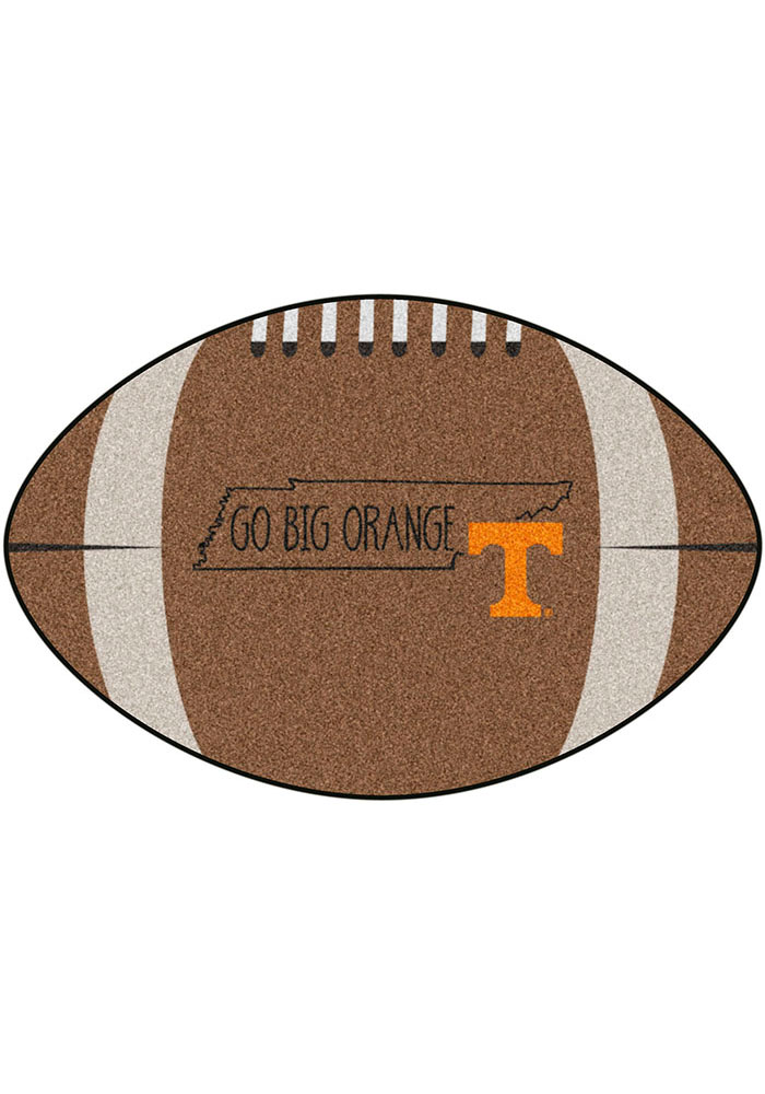 Tennessee Volunteers Southern Style 20x32 Football Interior Rug - Image 1
