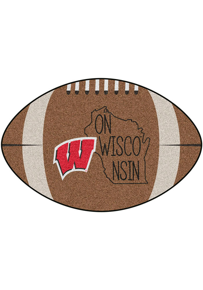Wisconsin Badgers Southern Style 20x32 Football Interior Rug - Image 1